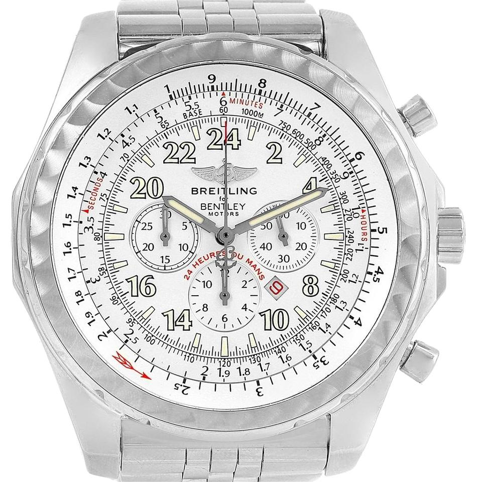 chronograph mens watch bentley box gmt swisswatchexpo dial watches breitling silver f papers