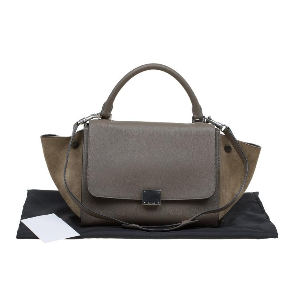 Trapeze Leather Beige Small Tote And Suede Céline pxdqRp
