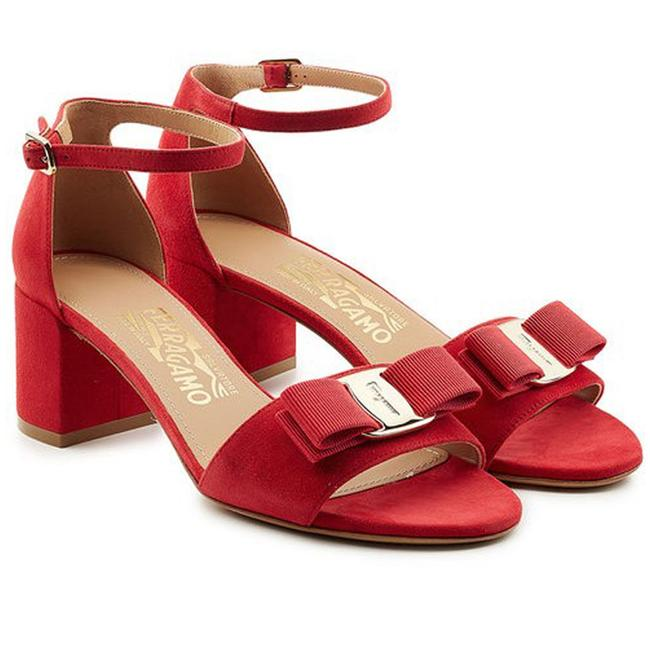 Item - Red Gavina Suede City Sandals Size US 10.5 Wide (C, D)