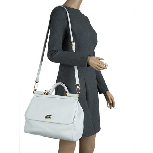 75704f68972 ... Dolce&Gabbana Dolce And Gabbana Miss Sicily Leather Satchel in White  Image 1