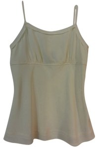 Dué Per Dué Silk Cami Dressy Blouse Top Cream