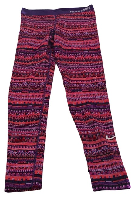 Item - Pink Purple Red Pro Running Tights Pants Size 12 (L, 32, 33)