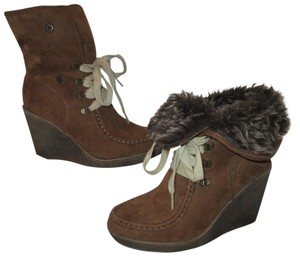 65dcb20b16dd Mossimo Supply Co. Man Made Vegan Faux Suede Faux Fur brown Boots
