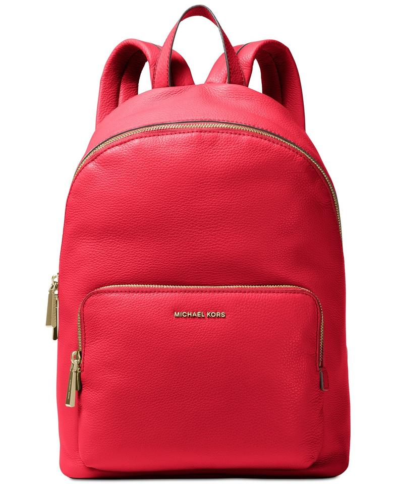 f4c9666a4ee9 Michael Kors Wythe Bright Red Leather Backpack - Tradesy