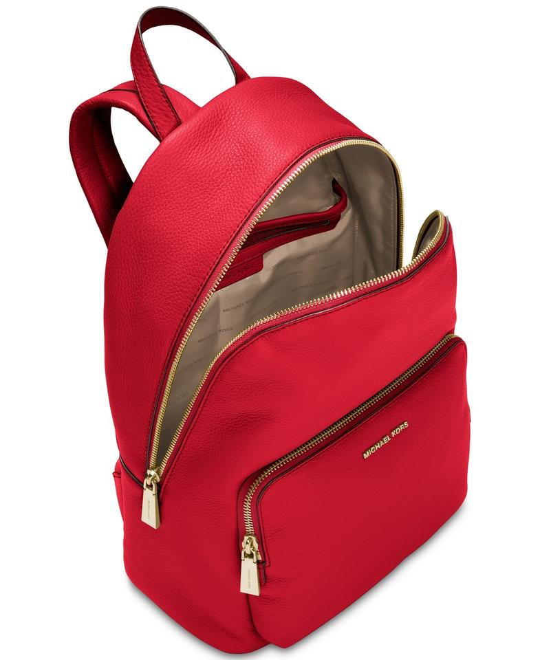 43af41ca3d045f Michael Kors Wythe Bright Red Leather Backpack - Tradesy