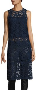 Alice + Olivia Kelissa Tunic Knee Length Sleeveless Lace Dress