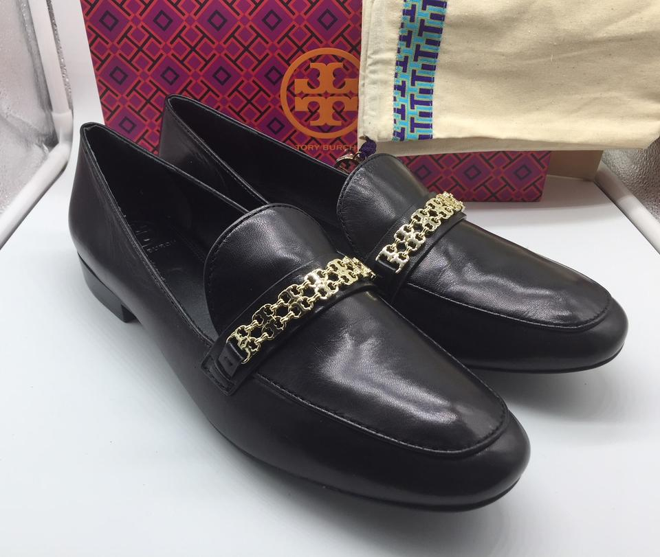 623af38aa32ad8 Tory Burch Black Gemini Link Leather Loafer Flats Size US 10.5 ...