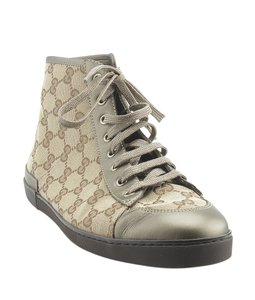 Gucci Sneakers Canvas Brown Boots