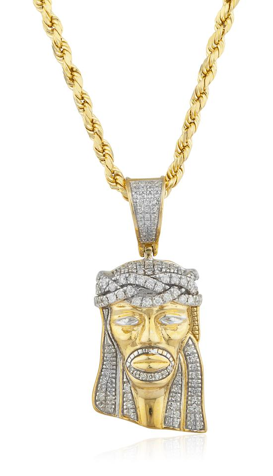 zumiez gods jesus necklace gold front the piece