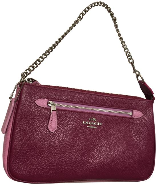 Item - Courier Nolita 65015 Pebbled Leather Wristlet Cyclamen Marshmellow Pink (Two Tone Of Pink) Messenger Bag