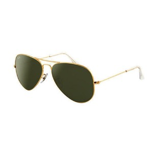 7bfb0bac97 Ray-Ban Ray Ban Unisex Aviator Sunglasses RB3025 L0205 Gold Frame Grey Lens