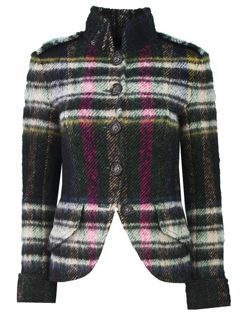 Chanel Multicolor Plaid Wool-blend Fr36 Jacket Size 4 (S) Chanel Multicolor Plaid Wool-blend Fr36 Jacket Size 4 (S) Image 1