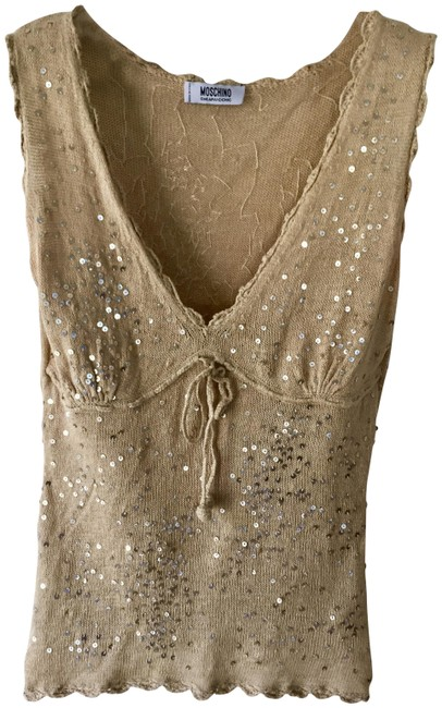 Item - Gold Chipandchic Tank Top/Cami Size 6 (S)