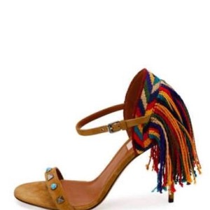 Valentino brown blue red green multi Sandals