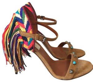 Valentino brown blue multi red green Sandals