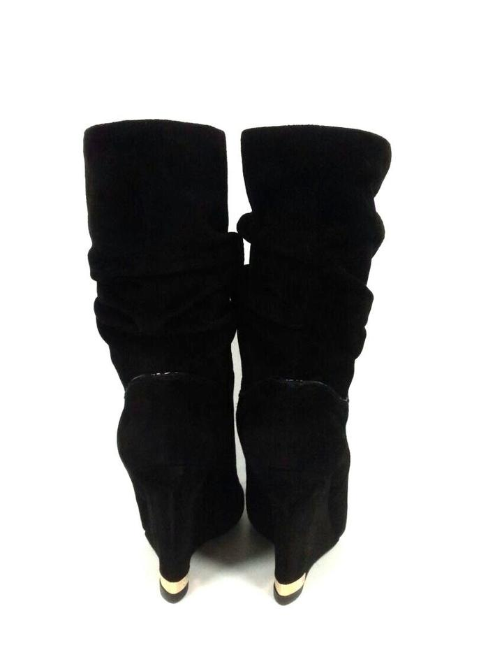 77f333ae94571 Louis Vuitton Black Suede Leather Women Boots Booties Size US 5.5 ...