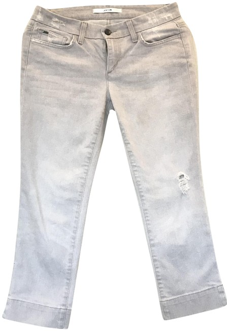 Item - Gray Light Wash Capri/Cropped Jeans Size 27 (4, S)