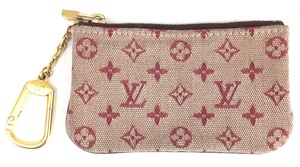 Louis Vuitton Mini Lin Monogram Idylle Canvas Zippy key cles credit card hold
