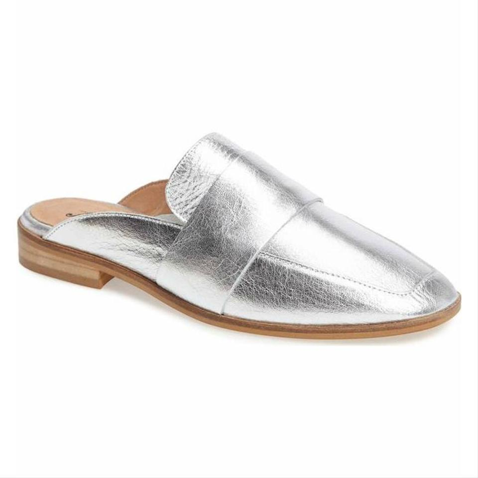 c79a7df1c75 Free People Silver At Ease Loafer Mules Slides Size EU 38 (Approx ...