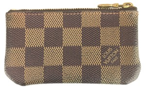 Louis Vuitton Damier Ebene Zippy key cles Pocket Holder Card Case Coin Purse