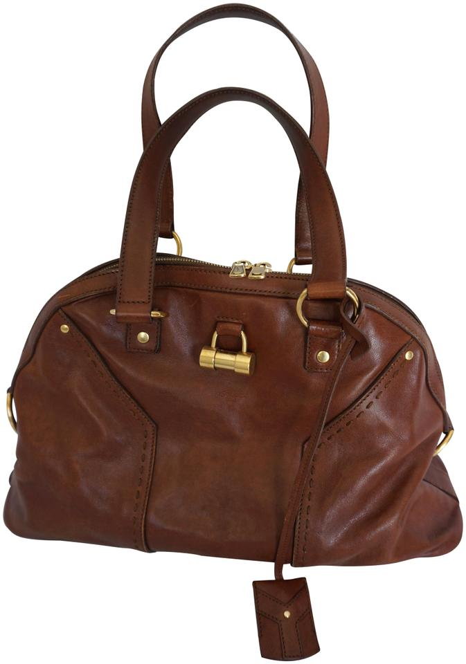 a8bb8f0263 Saint Laurent Muse Yves Ysl Small Handbag Brown Leather Shoulder Bag ...