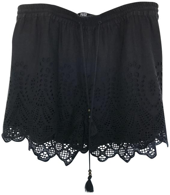 Item - Black Paxton Lace Small with Elasticized Drawstring Shorts Size 4 (S, 27)