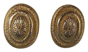 Geno Geno Gold Tone Clip On Earrings