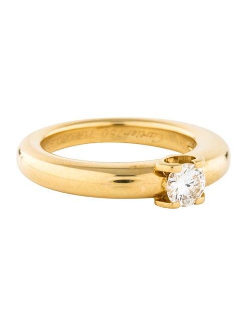 Item - Round Cut H Color Vs2 Clarity 0.30 Ct 18k Yellow Gold Diamond Solitaire Engagement Ring
