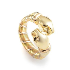 Cartier Panther 18k Yellow Rose and White Double Head (19004) Ring
