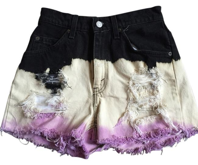 Preload https://img-static.tradesy.com/item/2306460/black-cream-and-purple-cut-off-shorts-size-4-s-27-0-0-650-650.jpg