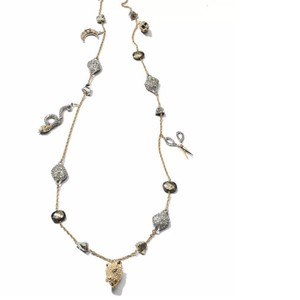 Alexis Bittar New! Mixed Crystal Charm Necklac