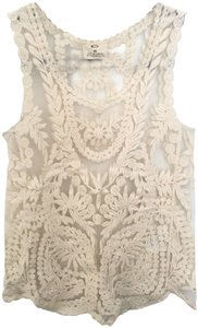 Pins and Needles Lace Top Cream