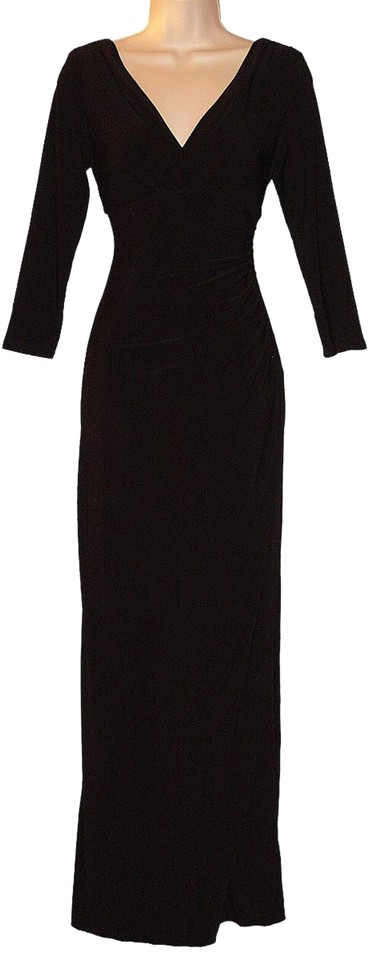 Lauren Ralph Empire Waist 3 4 Sleeves D Jersey Dress