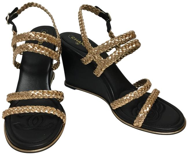 Item - Rose Gold Braided Multi Strap Wedges Size EU 40 (Approx. US 10) Regular (M, B)