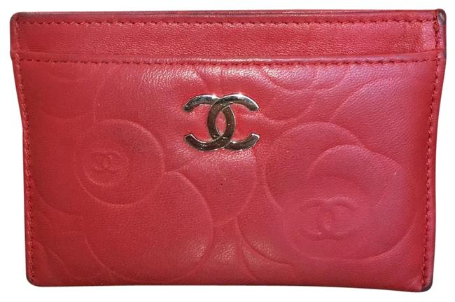 Chanel Red Lambskin Leather 5756 Wallet Chanel Red Lambskin Leather 5756 Wallet Image 1