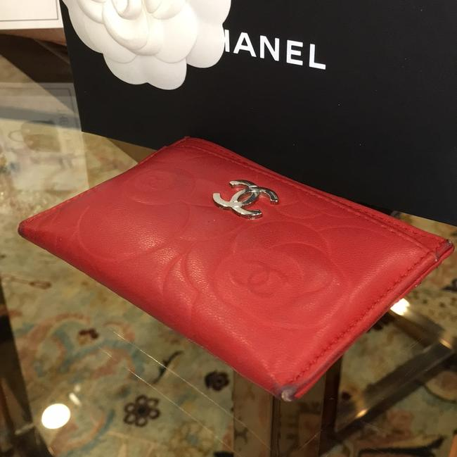 Chanel Red Lambskin Leather 5756 Wallet Chanel Red Lambskin Leather 5756 Wallet Image 11