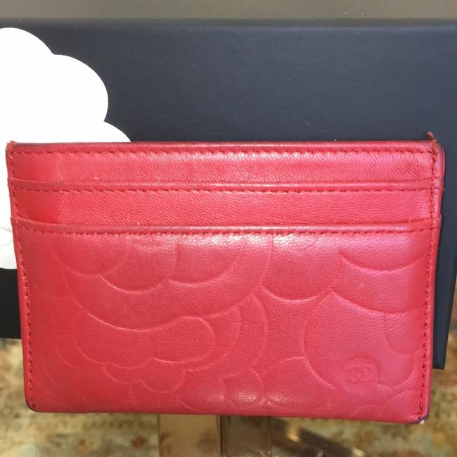 Chanel Red Lambskin Leather 5756 Wallet Chanel Red Lambskin Leather 5756 Wallet Image 6