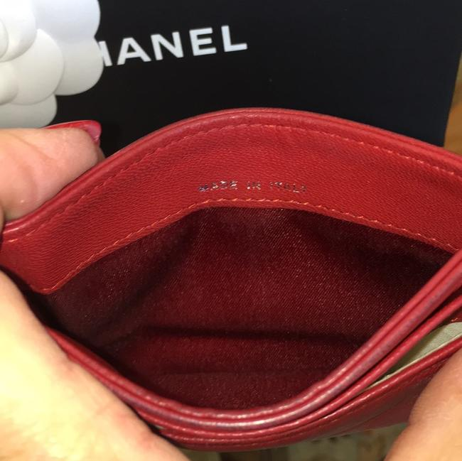 Chanel Red Lambskin Leather 5756 Wallet Chanel Red Lambskin Leather 5756 Wallet Image 7