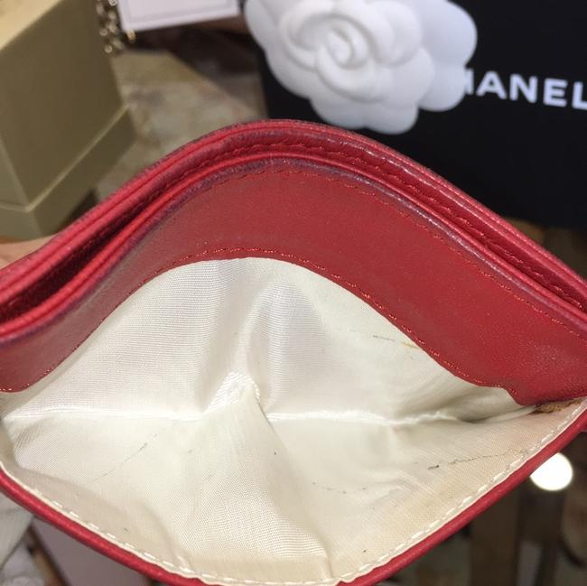 Chanel Red Lambskin Leather 5756 Wallet Chanel Red Lambskin Leather 5756 Wallet Image 10
