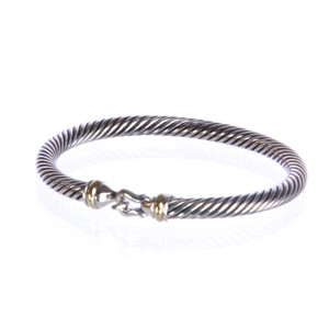 David Yurman Cable Buckle Bracelet with Gold 5mm $495 NWOT