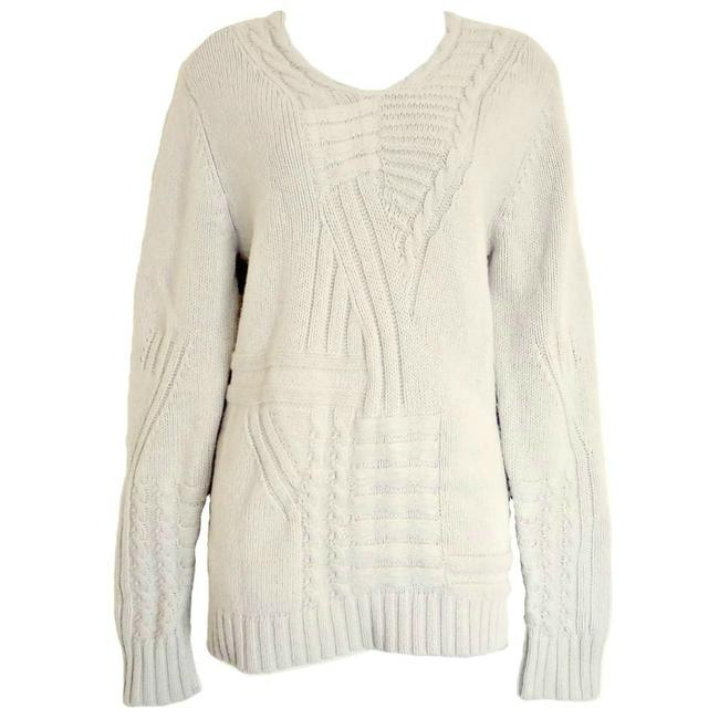 Preload https://img-static.tradesy.com/item/23065194/reiss-ivory-chunky-cable-jumper-wool-knit-1971-oversized-sweaterpullover-size-8-m-0-1-650-650.jpg
