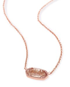 Kendra Scott Brand New Kendra Scott Elisa Necklace in Rose Gold Dusted Glass