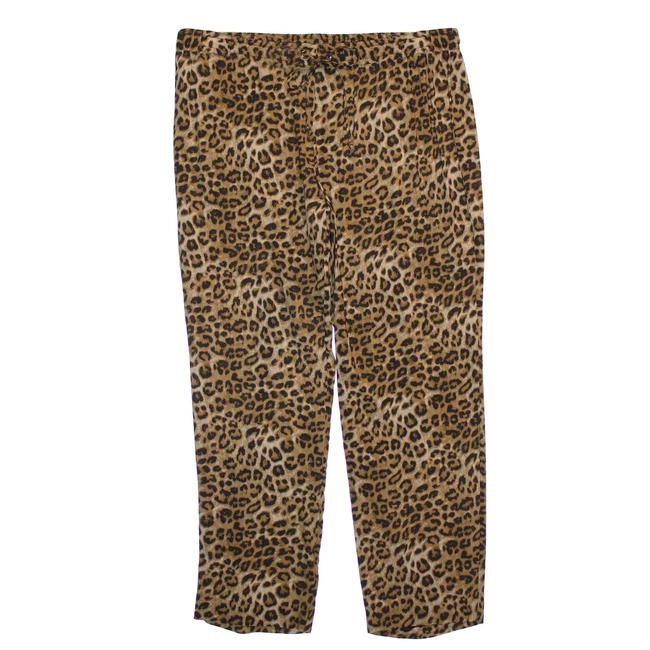 Charter Club Multi Color 3x Animal Print Pull On Pants Size 24 (Plus 2x) Charter Club Multi Color 3x Animal Print Pull On Pants Size 24 (Plus 2x) Image 1