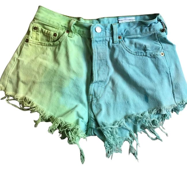 Preload https://item4.tradesy.com/images/yellow-blue-cut-off-shorts-size-6-s-28-2306543-0-0.jpg?width=400&height=650