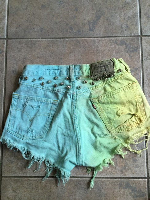 LF Vintage Cut Off Shorts Yellow, blue