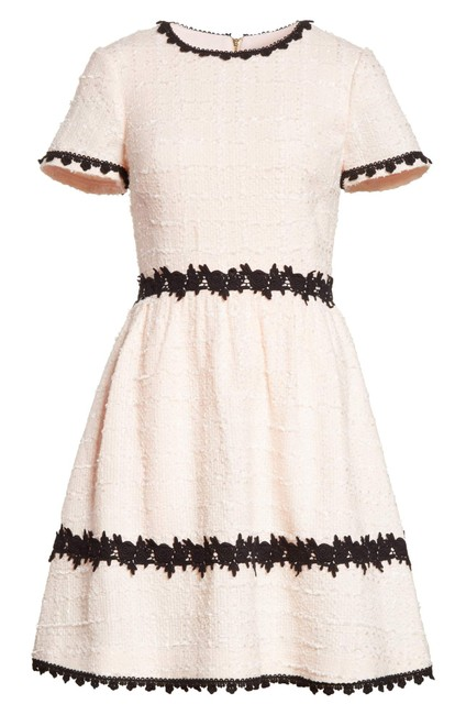 Item - Pink Madison Ave. Collection Jayne Embellished Bouclé Fit & Flare Mid-length Work/Office Dress Size 8 (M)