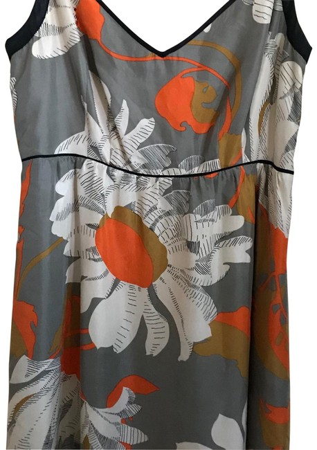 Anthropologie Grey with Flowers Moulinette Soeurs Short Casual Dress Size 4 (S) Anthropologie Grey with Flowers Moulinette Soeurs Short Casual Dress Size 4 (S) Image 1