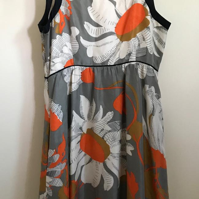 Anthropologie Grey with Flowers Moulinette Soeurs Short Casual Dress Size 4 (S) Anthropologie Grey with Flowers Moulinette Soeurs Short Casual Dress Size 4 (S) Image 2