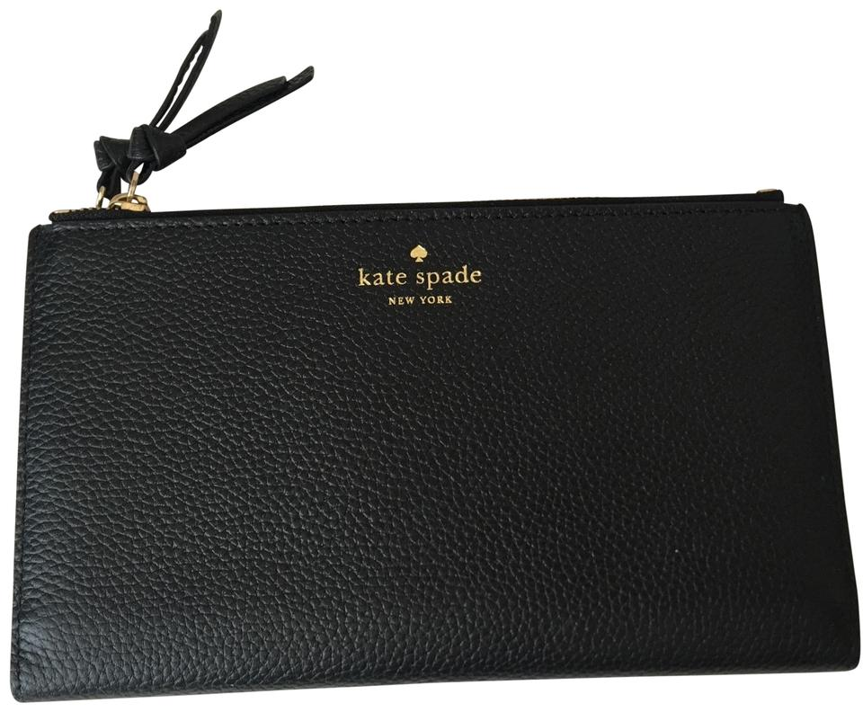 f07a93ce4ff48 Kate Spade Black Malea Mulberry Street Double Zipper Wallet - Tradesy