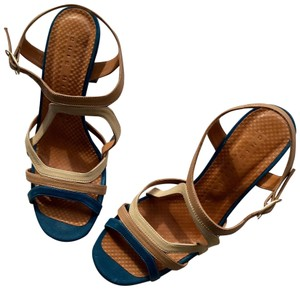 Chie Mihara Teal, beige, cream Sandals